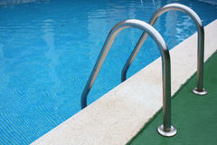 Pool Steps. Steps into hotel swimming pool Royalty Free Stock Photo