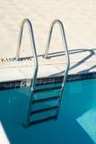 Pool steps. Metal pool steps Royalty Free Stock Images