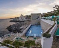 Pool sulphureous at santa cesarea beach Stock Images