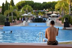 Pool Summer Party, Music DJ, Summer Holidays, Travel Portugal Royalty Free Stock Image