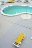 Pool and sun loungers Stock Photo