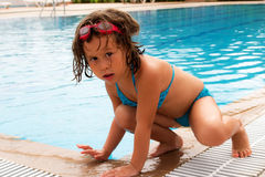 In the pool. Sunny day -the best time to visit the pool royalty free stock image