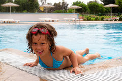 In the pool. royalty free stock images