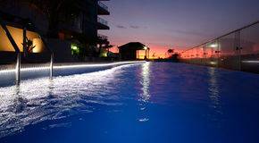 A pool at sunset Stock Photography