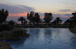 Pool at sunset. Royalty Free Stock Photos