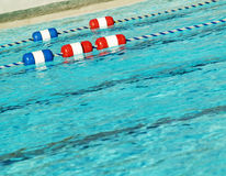 Pool with swim lanes Royalty Free Stock Photos