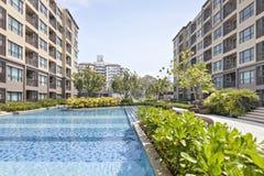 Pool swimming and garden. At Bangkok Royalty Free Stock Images