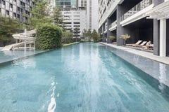 Pool swimming and garden. At Bangkok Stock Image