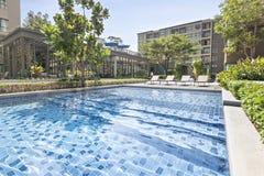 Pool swimming and garden. At Bangkok Stock Photo