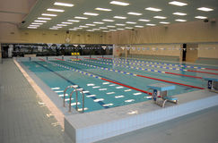 Pool with swimming lanes Royalty Free Stock Photos