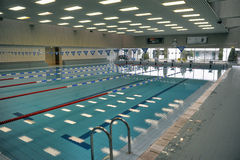 Pool with swimming lanes Royalty Free Stock Photography