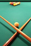 Pool Table. Ready to Play stock images