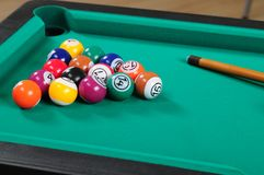 Pool table. Royalty Free Stock Photography