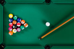 Pool table. Royalty Free Stock Photo