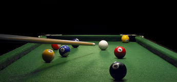 Pool Table Stock Photo