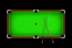 Pool table. Green pool table with ball 8 in the middle Royalty Free Stock Photography