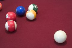 Pool Table Balls royalty free stock photo