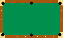 Pool table without balls Stock Photo