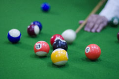 Pool table balls in Chennai,Tamil Nadu,India,Asia Royalty Free Stock Photography