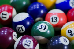 Pool table balls in Chennai,Tamil Nadu,India,Asia Royalty Free Stock Image