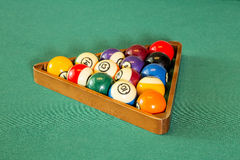 Pool table balls Royalty Free Stock Photography