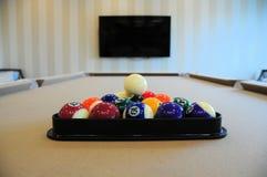Pool table & balls Royalty Free Stock Photo