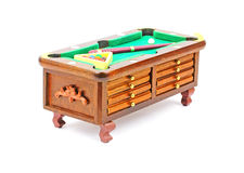 Pool Table Chest at an Angle Royalty Free Stock Photography