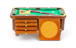 Pool Table Chest and Coaster Royalty Free Stock Image