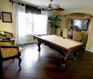 Pool table entertainment room Royalty Free Stock Images