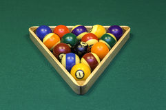 Pool table Royalty Free Stock Photography