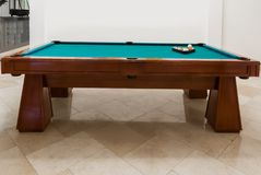 Pool Table with Green felt Royalty Free Stock Photo