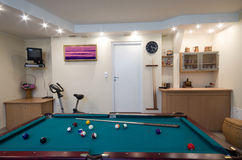 Pool table home Royalty Free Stock Image