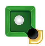 Pool table icon with white ball isolated Royalty Free Stock Photography