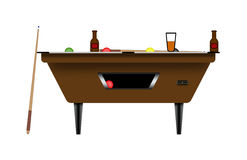 Pool table illustration Royalty Free Stock Photo