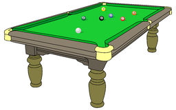 Pool. Table isolated on white background vector illustration