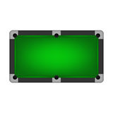 Pool table. Pool table isolated on white. Vector EPS10 illustration Stock Photo