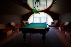 Pool table natural. stock image