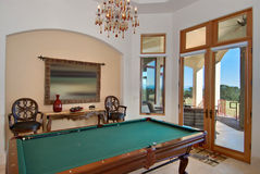 Pool table room Stock Images