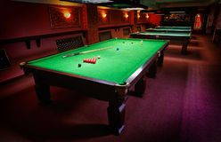Pool Table, set up for  game Royalty Free Stock Photography