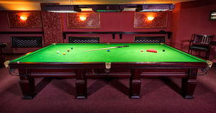 Pool Table, set up for  game Royalty Free Stock Images