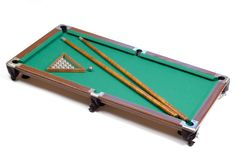 Pool-table with supplies Stock Images