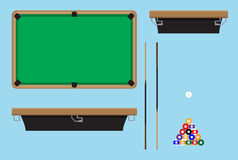 Pool table top side Stock Image