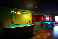 Pool tables Stock Photo