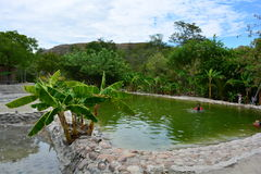 Pool in the Tatacoa desert, in Neiva, Colombia. Pool in the Tatacoa desert, one of the touristic destinations in Colombia stock image