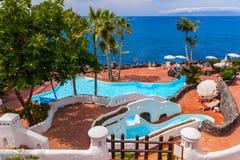 Pool at Tenerife island - Canary Stock Image