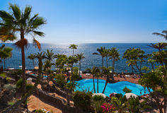 Pool at Tenerife island - Canary Stock Photography