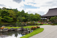 The pool at Tenryu-ji temple in kyoto, Japan Royalty Free Stock Image