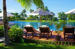 Pool in Thailand stock photos