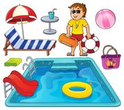 Pool thematic set 1 Royalty Free Stock Photo