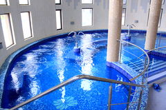 Pool - spa and jacuzzi with thermal water Royalty Free Stock Photography